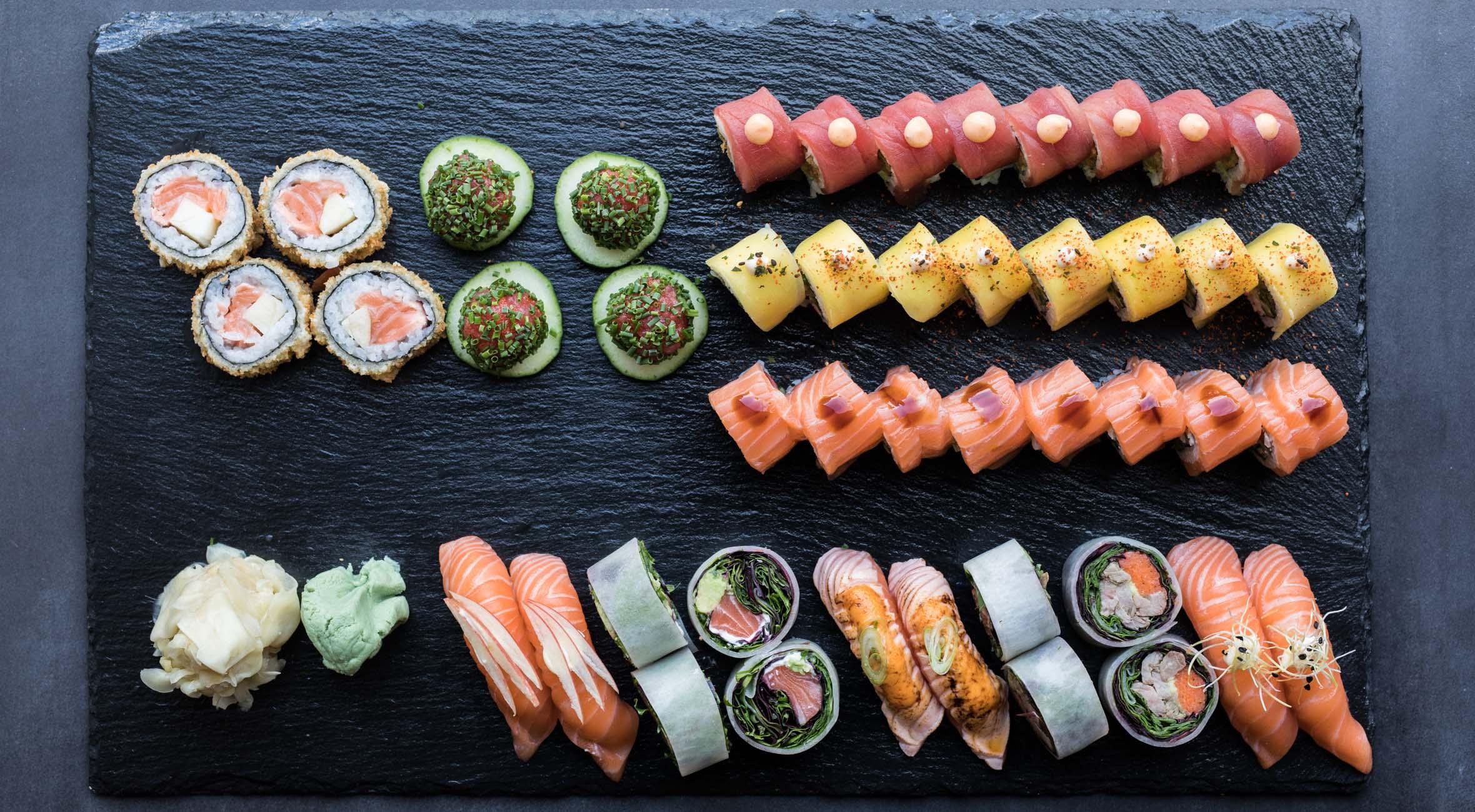 46 stk. luksus sushi fra Omakase Sushi på Frederiksberg – Få sushi i verdensklasse