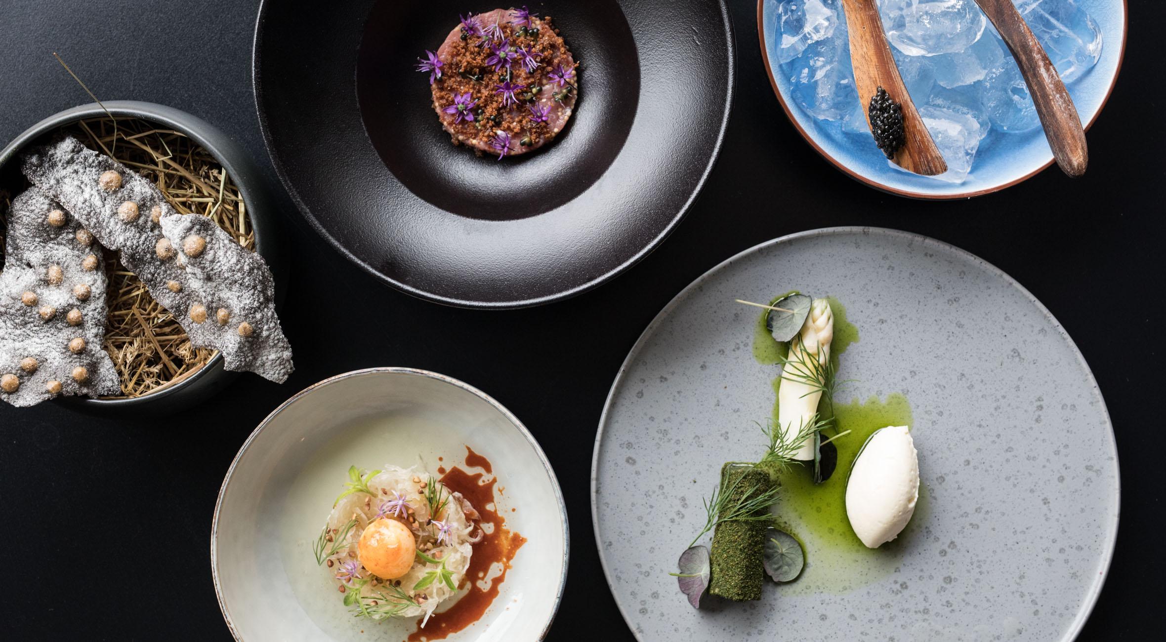 5-retters menu hos Michelin-anbefalede Restaurant Mes – Nordisk gourmet tildelt 5 stjerner af Berlingske