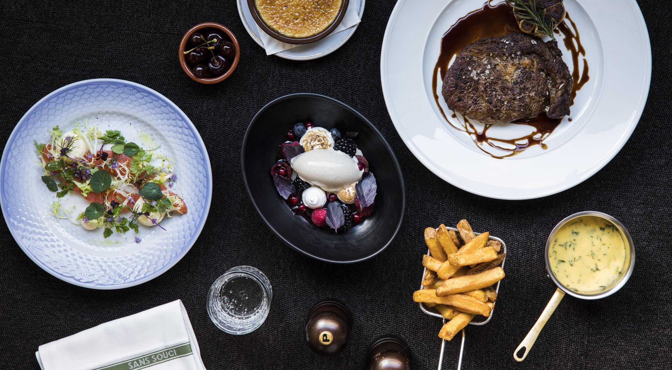 3-retters menu hos Sans Souci på Frederiksberg – Nyd fransk-nordisk gastronomi i historiske omgivelser