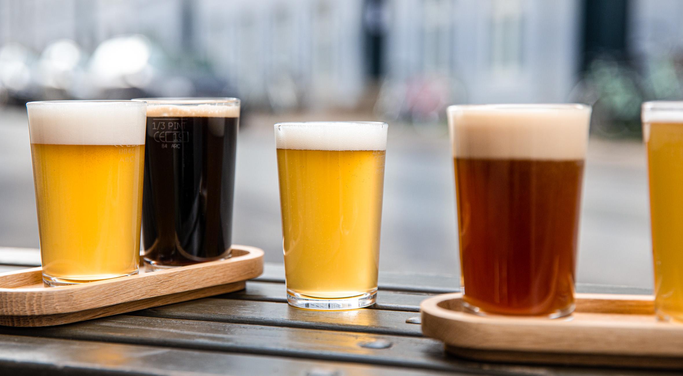 2 beer flights hos Bicycle Brewing på Østerbro – Invitér venner & veninder med på hypet amerikansk-dansk mikrobryggeri