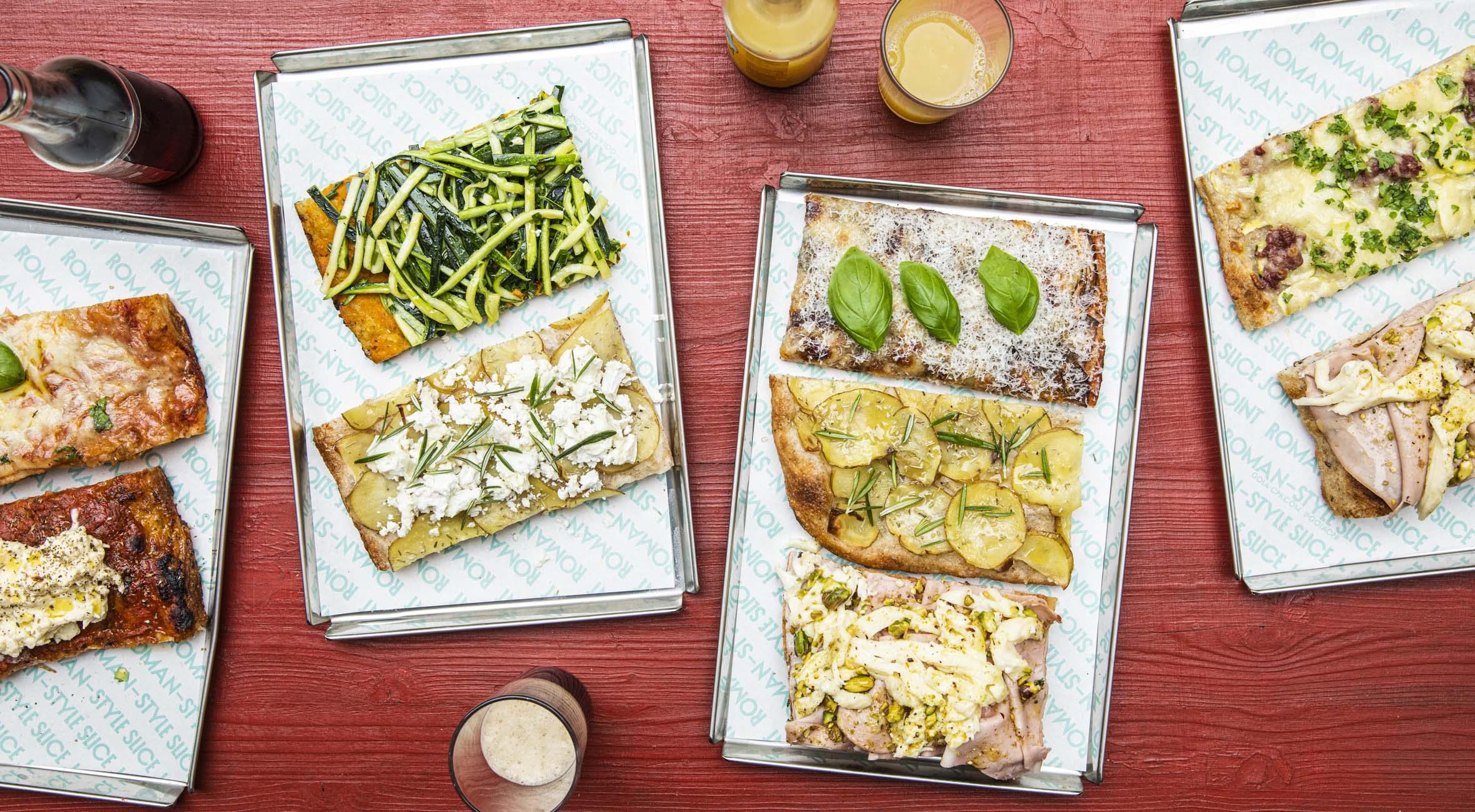 Pizza slices for 2 personer hos Gola på Nørrebro – Italienske kokke tager romersk pizza slice koncept til København