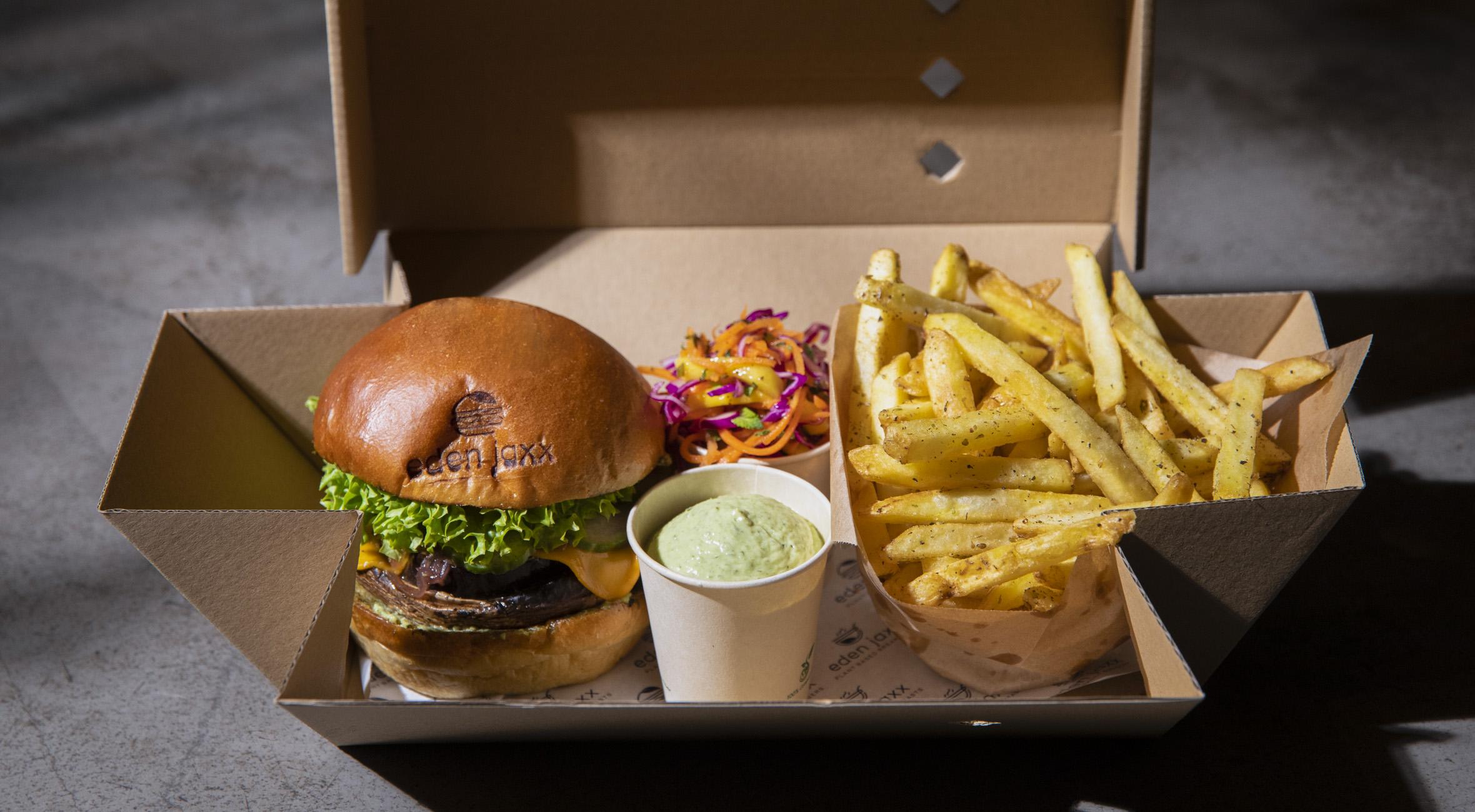 Burgermenu hos Eden Jaxx i Indre By – Vegansk burgerbar stormer frem og udvider med ny location