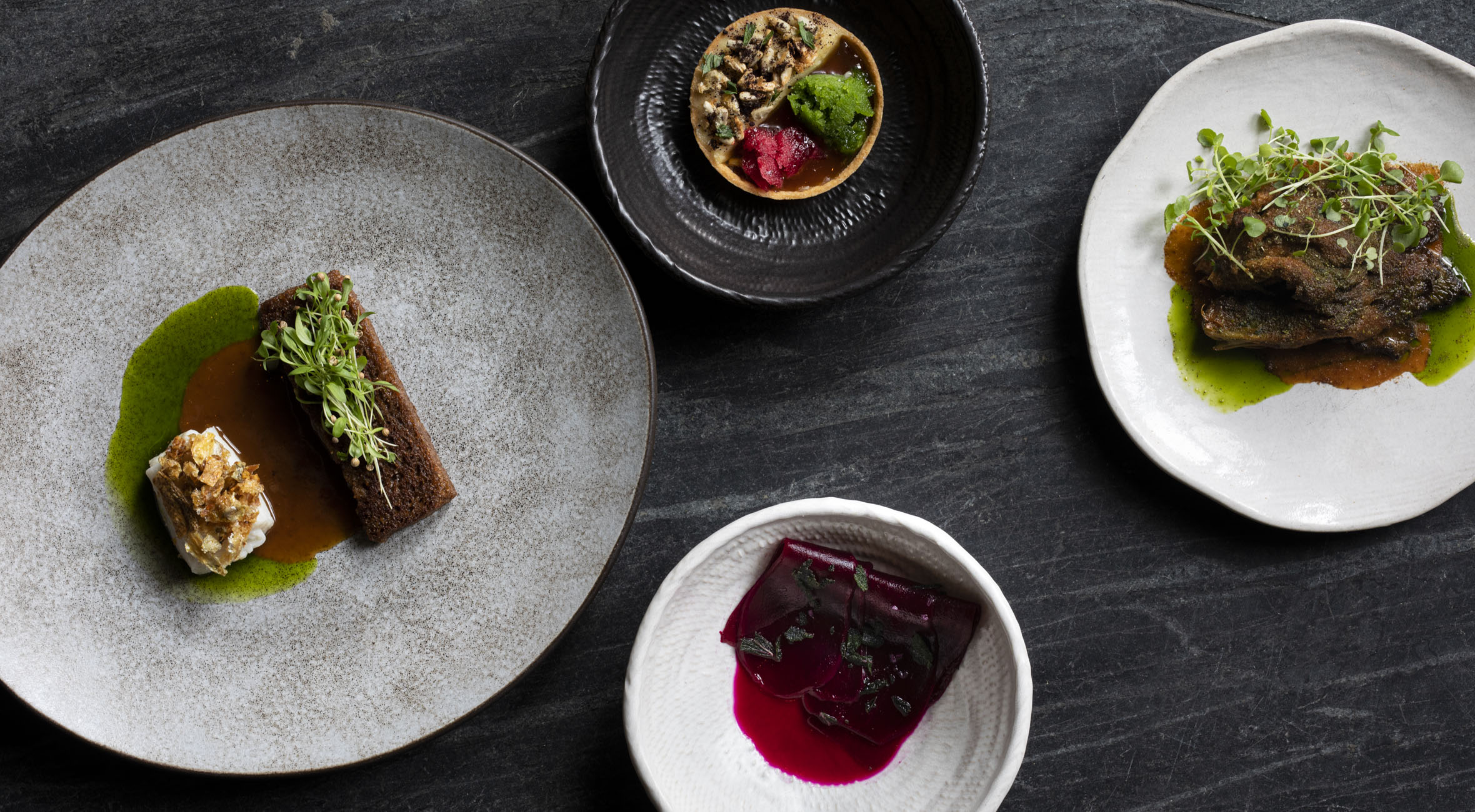 6-retters menu hos VAGO på Vesterbro – Ny bæredygtig restaurant er åbnet med drivhus og vilde planter